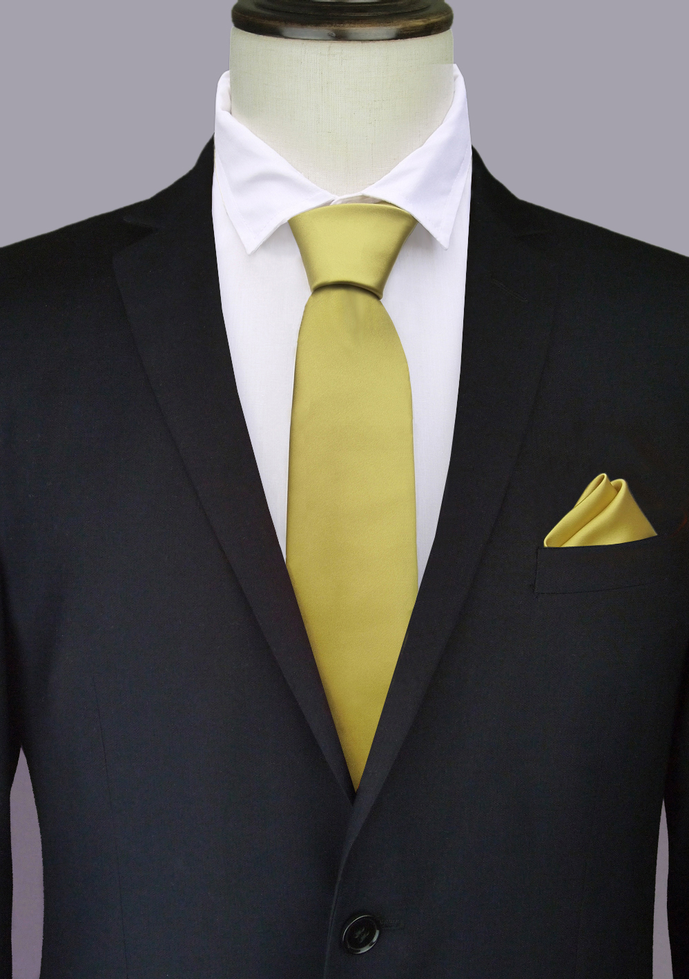 Gold Tie and Pocket Square