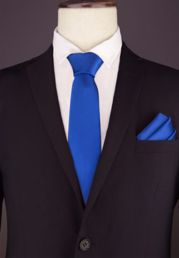 Royal Blue Tie & Pocket Square