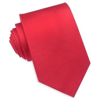 BRIGHT RED WITH MICRO CHECK TEXTURE MENS TIE