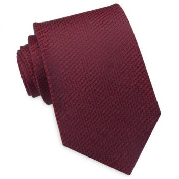 BURGUNDY RED WOVEN TEXTURE MENS TIE