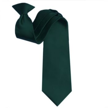 MENS FOREST GREEN CLIP ON TIE