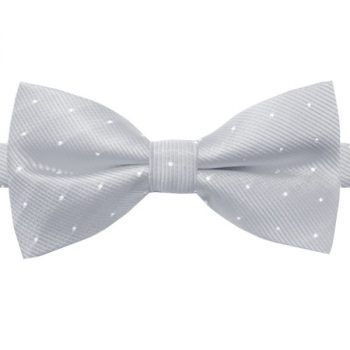 LIGHT GREY WITH SMALL POLKA DOTS BOW TIE