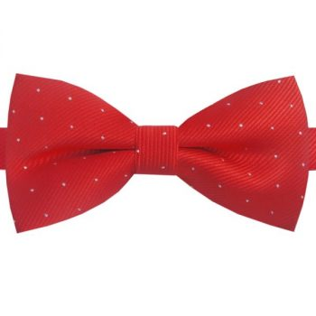 RED WITH SMALL POLKA DOTS BOW TIE