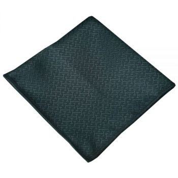 GREEN WITH BAR TEXTURE POCKET SQUARE