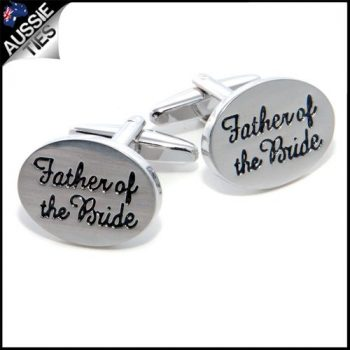 MENS FATHER OF THE BRIDE CUFFLINKS