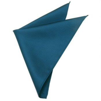 PEACOCK BLUE WOVEN TEXTURE POCKET SQUARE