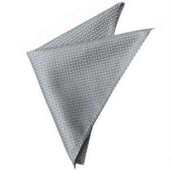 SILVER WITH PINWHEEL TEXTURE POCKET SQUARE